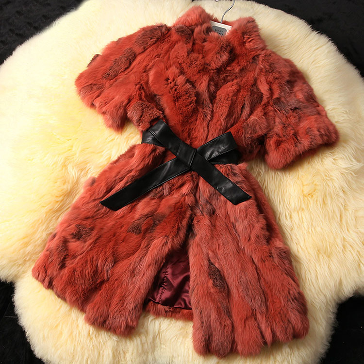 2019 Women New Arrival Real Rex Rabbit Fur Coat Genuine Natural Rabbit leopard fur Jacket for women winter Coat DFP301B