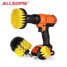 ALLSOME Power Scrubber Brush Drill Brush Clean for Bathroom Surfaces Tub Shower Tile Grout Cordless Power Scrub Cleaning Kit(China)