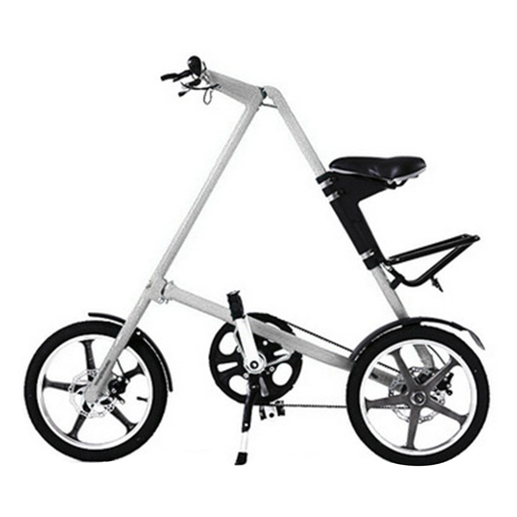купить 14 / 16 inch Universal Folding Bicycle Aluminum Alloy Bike Wheels Portable Bicycle Scooter For Kids Adults Red and White New недорого