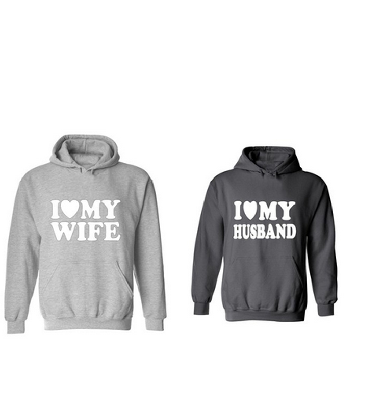 I Love My Husband & I Love My <font><b>Wife</b></font> Valentine's Day Gift Hoodie Mr & Mrs <font><b>Right</b></font> Hoodies Sweatshirt Lovers Pullover