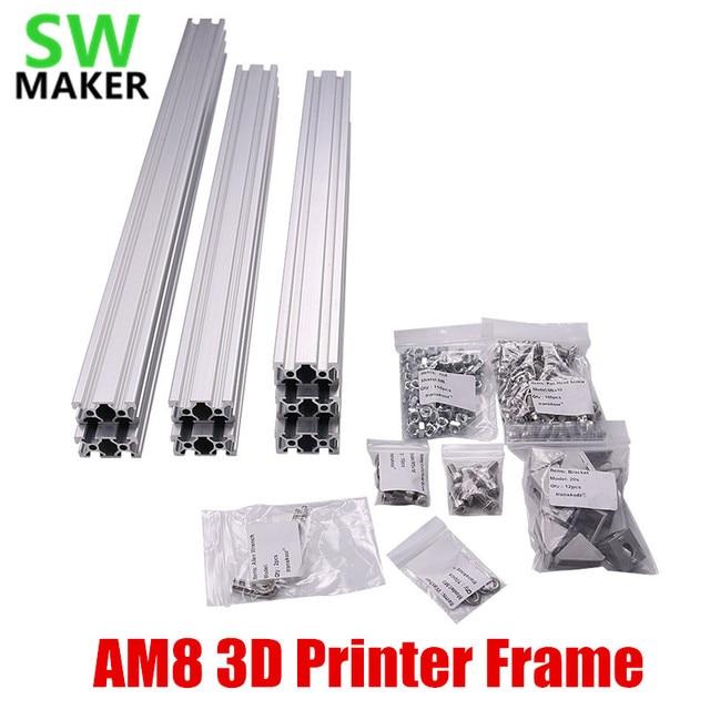 1 セット AM8 3D プリンタアルミニウム金属押出プロファイルフレーム/ナットねじブラケット Anet ため A8 3D プリンタ部品