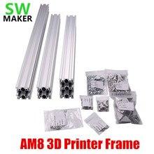1 zestaw AM8 drukarka 3D aluminiowa rama profilowa do wytłaczania metalu z/nakrętkami wspornik śrubowy narożnik do części drukarki 3D Anet A8