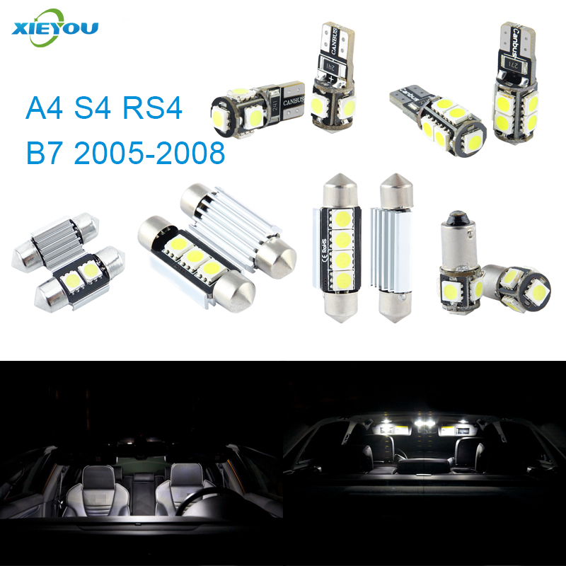 XIEYOU 18 stks LED Canbus Interieurverlichting Kit Pakket Voor A4 S4 - Autolichten