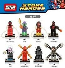 X0107 Building Blocks Captain America 3 Iron Spider Man Woman Gwen Green Goblin Shadows Doctor Octopus