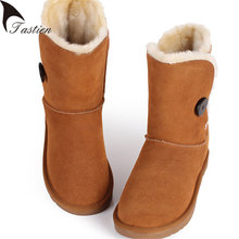 New Fashion Snow Boots Classic Australia Women Boots Waterproof Cowhide Genuine Leather Snow Boots Warm Winter Shoes Plus Size