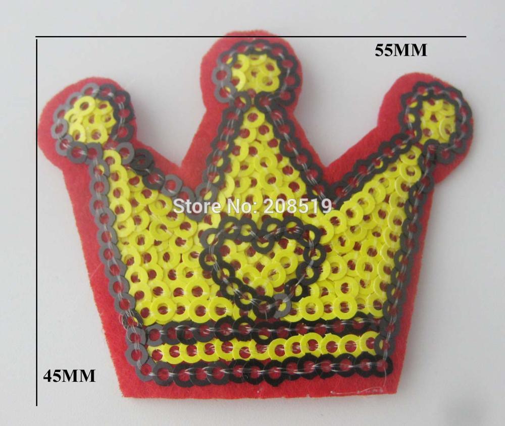 AENNOA 20pcs baby clothes appliques Crown shape sequins patches sew-on fashion stuff garment accessories