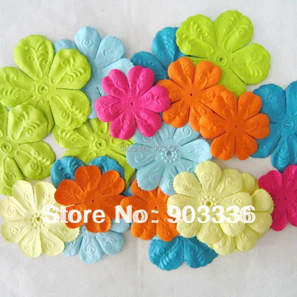 Craft paper flowers for scrapbooking paper flowers scrapbooking craft paper flowers for scrapbooking paper flowers scrapbooking decoration mixed color 48pcs lot free shipping in artificial dried flowers from home mightylinksfo