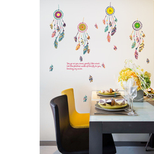 SK7021 Feathers Wall Stickers DIY Cartoon Mural Decals for Kids Rooms Baby Bedroom Dormitory Decoration [shijuekongjian] hot air balloon wall stickers diy cartoon wall decals for kids rooms baby bedroom shop glass decoration