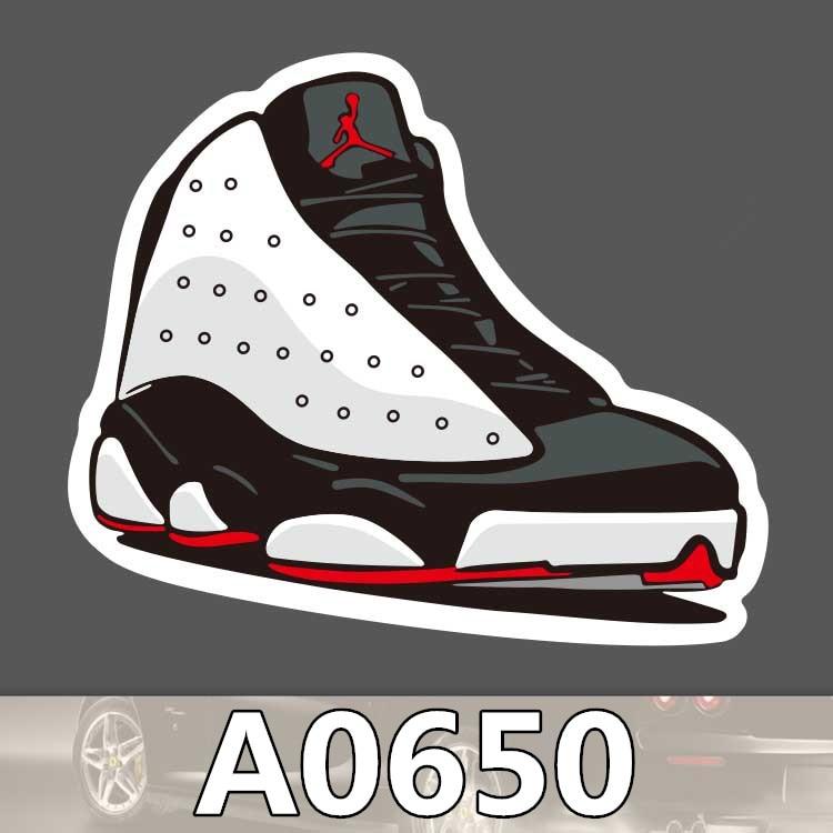 jordan shoe stickers