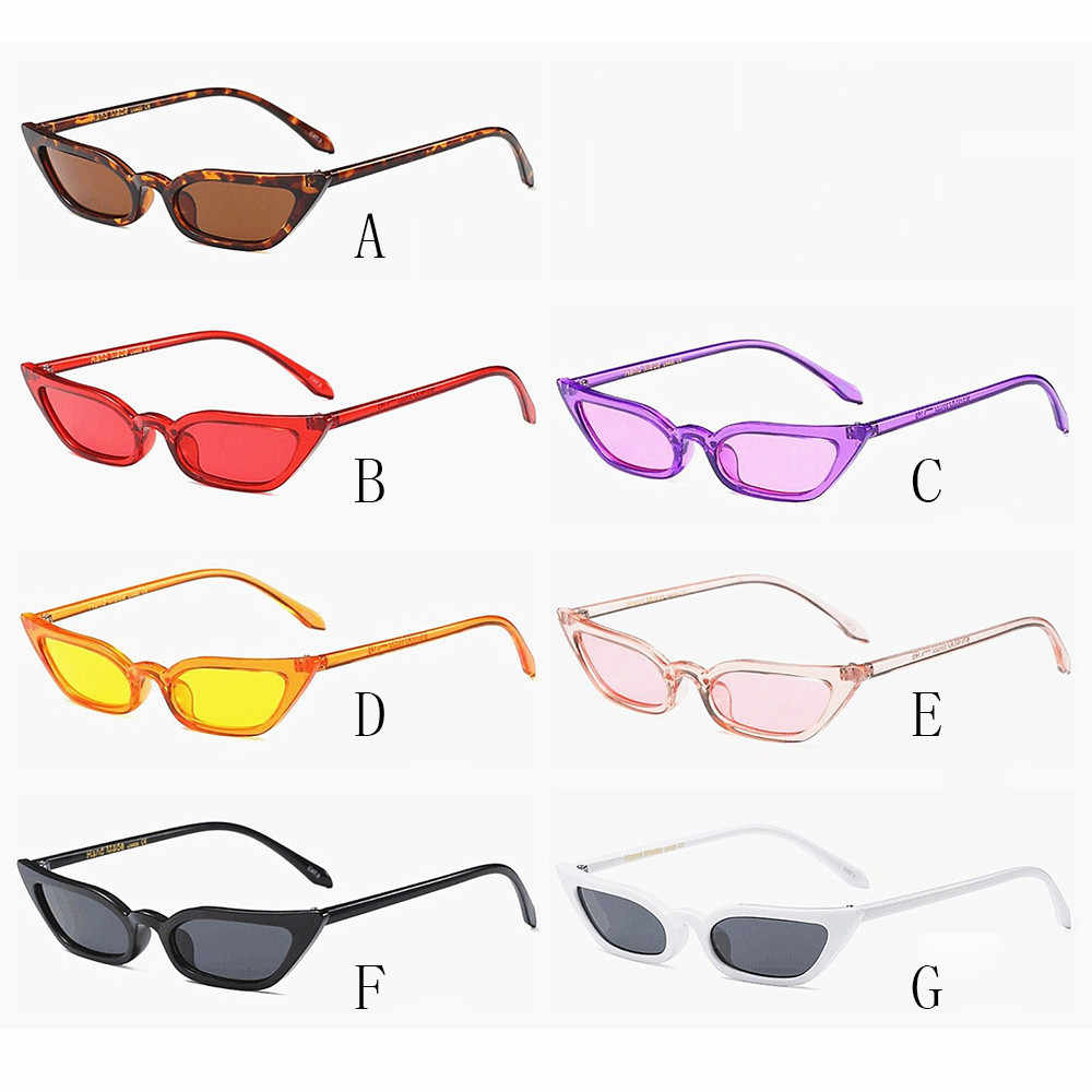 2019 fashion light-proof glasses women's retro fashion small box black red cat eye glasses retro light mirror tight color 3.4