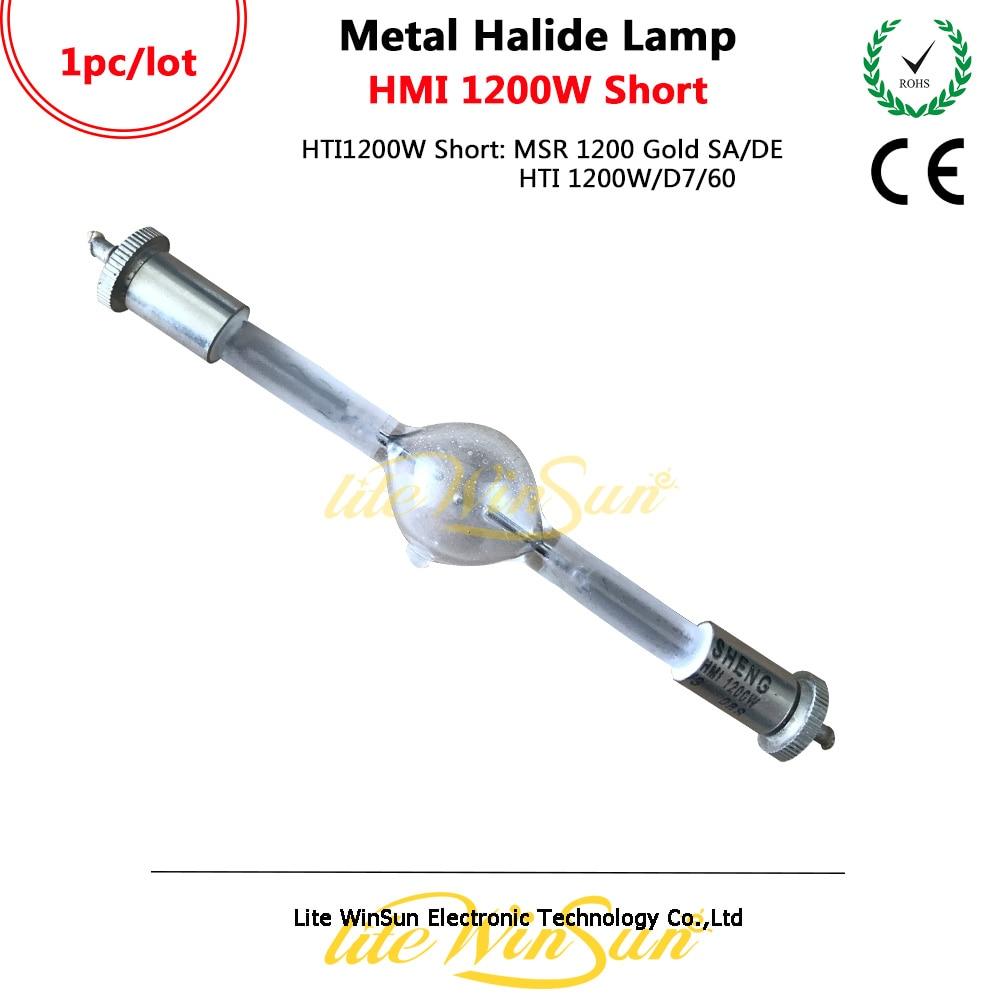 Litewinsune Freeship Good Quanlity HMI 1200W Metal Halide Lamp Bulb Short Type 136mm 5pcs hmi 1200 s stage scan lamp bulb double ended replacement hti 1200w gs msi 1200w