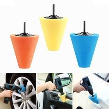 Полировка пены Губка для полировки конусной формы полировки колодки для ступицы колеса автомобиля-инструмент