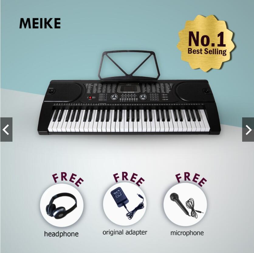 MK-2089 61 touches Piano numérique clavier électronique paquet Instruments de musique pour débutant ou enseignant éducation bébé