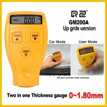 RZ Digital Automotive Car Paint Thickness Gauge of and Varnish Film Coating for Cars Meter Upgraded GM200A 1.8mm 71mil