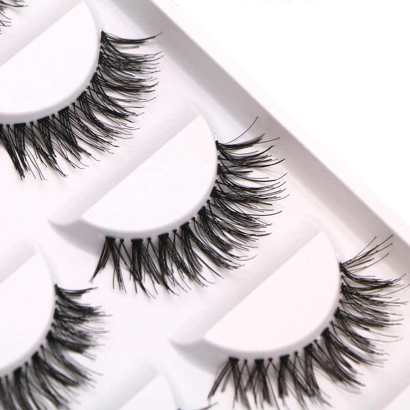 8c5320cc90b efero Natural Long False Eyelashes Thick Cross Makeup Beauty Fake Eyelashes  cilios Black Fake Eye Lashes