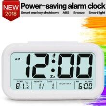 Digital Alarm Clock Student Clock Large LCD Display Snooze Electronic Kids Clock Light Sensor Nightlight Office