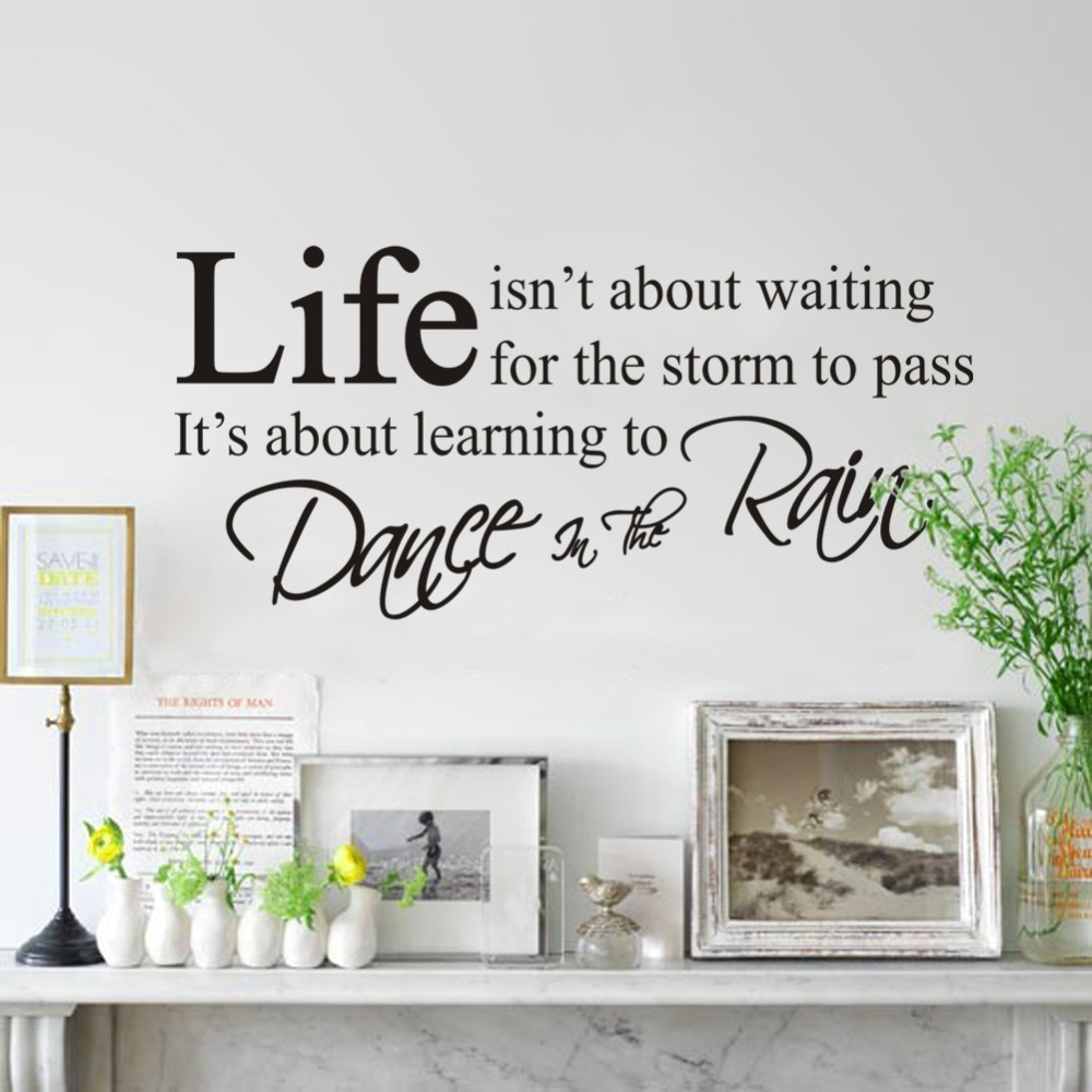Life is not about waiting inspirational quotes wall sticker home life is not about waiting inspirational quotes wall sticker home decorations removable mural diy pvc wall stickers decal art in underwear from mother amipublicfo Images