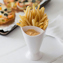 2016 New Salad Dipping Cup French Fry Chips Cone Assorted Sauce Ketchup Jam Dip Cup Bowl Saucer Tableware Kitchen Restaurant