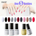 Elite99 2016 The Latest New Arrival Pick Any 5 Pieces from 58 Different Colors Unique Manicure Kits Gel Nail Polish Top And base