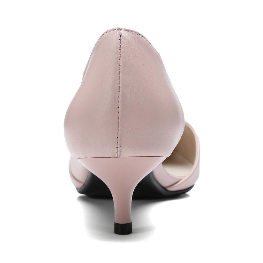 En De Femmes Beige Cuir 41 Pointu Vinlle Classique 34 Pompes Mince Dames Talon 2018 Bout rose Haut Taille On Slip Chaussures Véritable Mariage IZtt1qxRw5