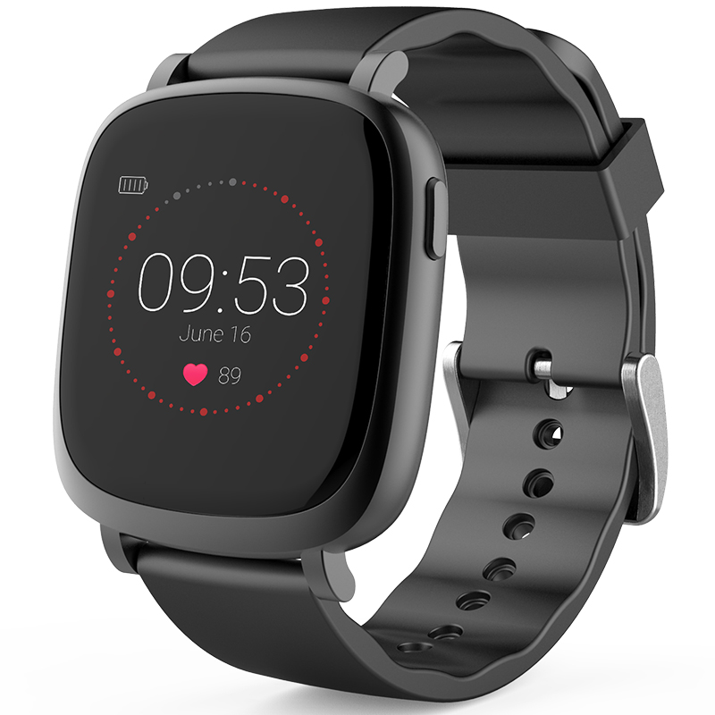 Multi Function Smart Colorful Screen Watch With Heart Rate Monitor Message Notification Sports Record Compatible IOS
