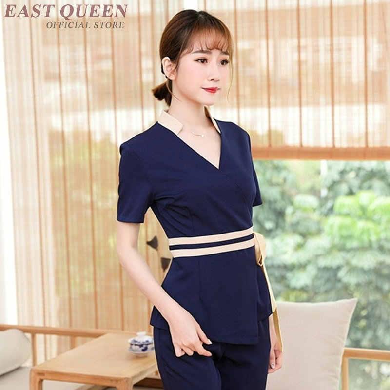 Kadın Spa thai masaj şevval özçelik üniforma güzellik salonu garson güzel üniformaları hemşire pantolon takım elbise tıbbi giyim DD1324