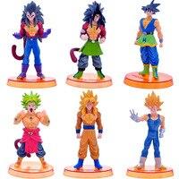 8pcs Set Dragon Ball Z Action Figure Super Saiyan DIY Toys Collectible Dragon Ball Toys Action