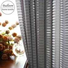 Современный стиль роскошный серый в полоску шифон Тюль Шторы для гостиная мягкая простыня окна экран Белый Полосатый sheer спальня