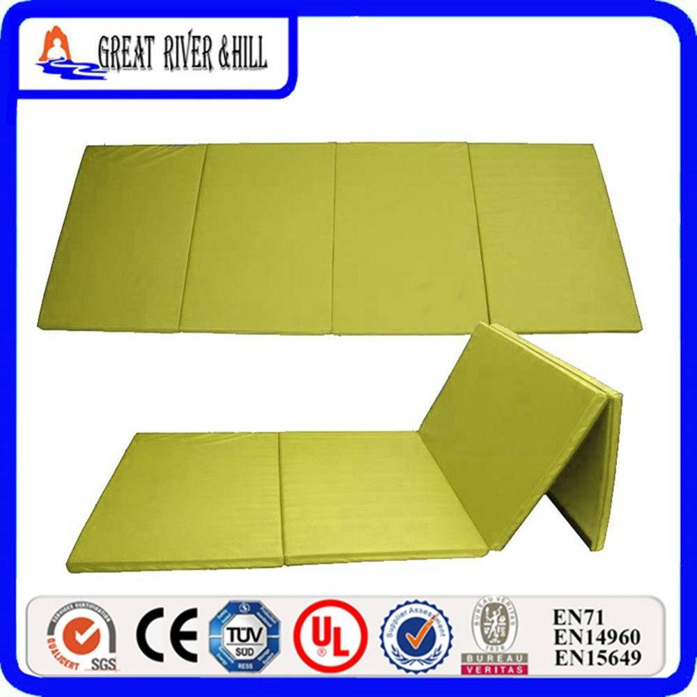 New Arrival Gymnastics Fold Exercise Yellow Mat 2.4mx1.2mx3cm effects of khat catha edulis exercise