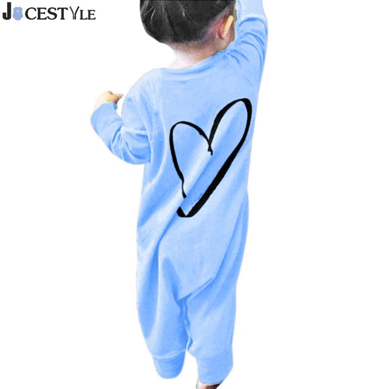JOCESTYLE Newborn Infant Baby Girl Long Sleeve Back Love Heart Print Romper Cotton Jumpsuit Christmas Toddler Girl Clothing newborn baby rompers baby clothing 100% cotton infant jumpsuit ropa bebe long sleeve girl boys rompers costumes baby romper