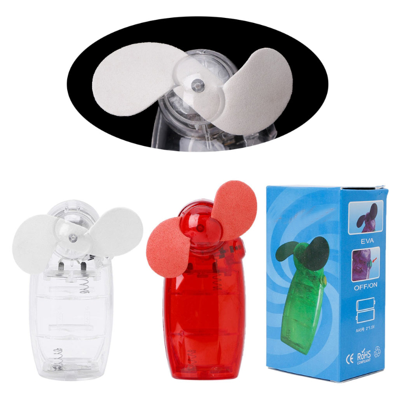 Portable Mini Pocket Fan Cool Air Hand Held Battery Travel Holiday Blower  Cooler(China)