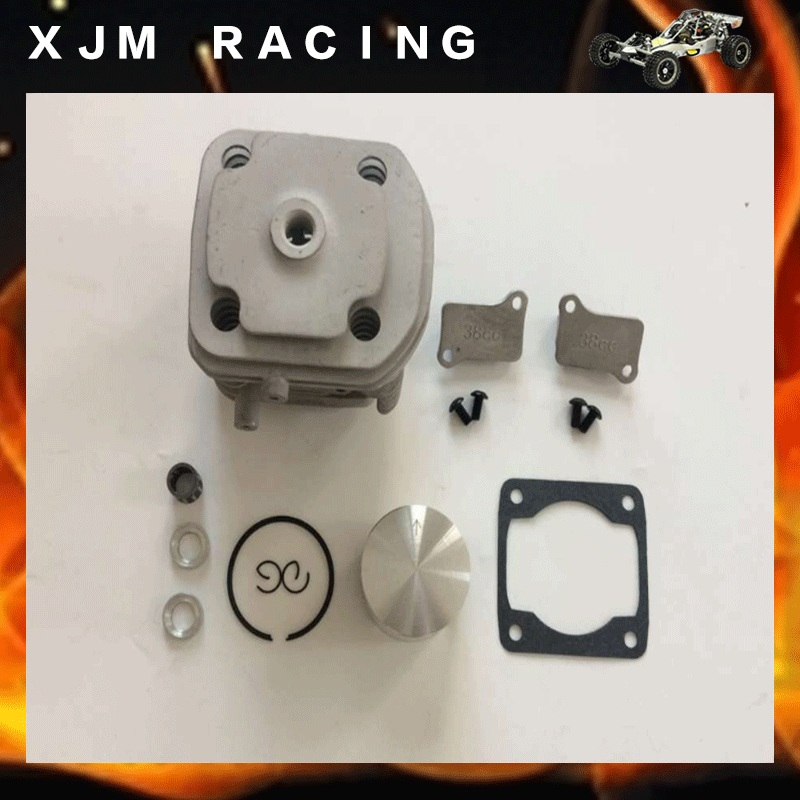 38CC Piston kit and 40mm cylinder head Set for BAJA 5B 5T 5SC FG Losi 5ive T cnc 2 cylinder kit baja twin cylinder kit for 1 5 scale hpi baja 5b 5t 5sc