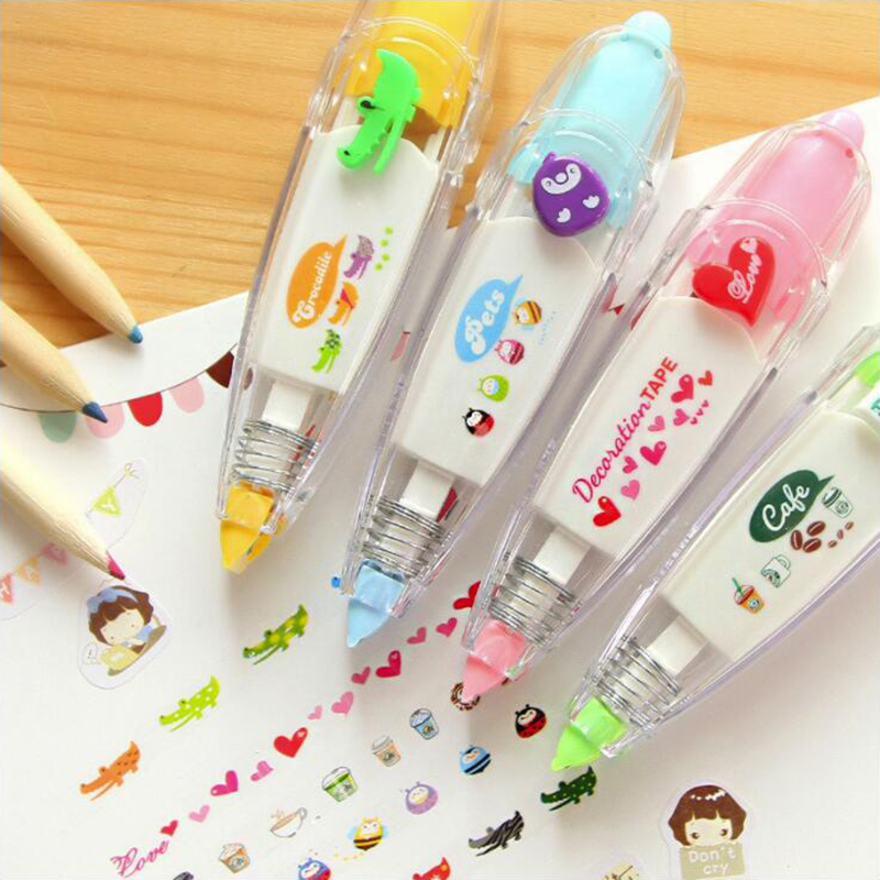 Kawaii Japanese Colorful Patterns Correction Tape Office Stationery And School Supplies 1PCS