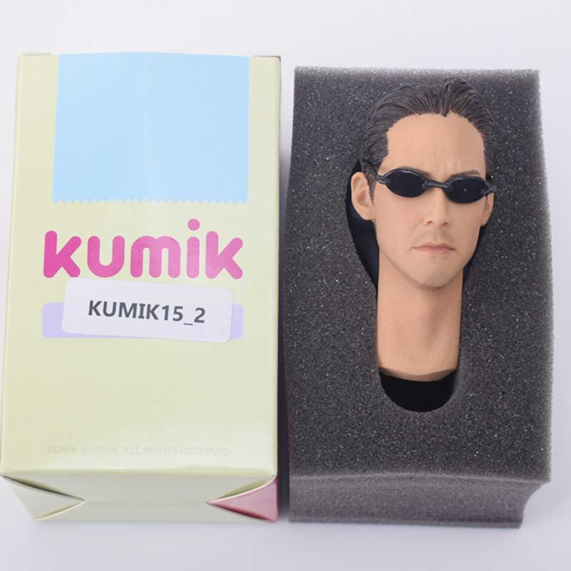 1/6 escamas cabeza esculpir KUMIK 15-2 Keanu Reeves Matrix neo para 12 pulgadas phien/ZCTOYS/juguetes calientes/TTL figura de acción corporal