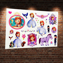 Little Princess Sofia The First Tattoo Sticker Waterproof Flash Temporary Tattoo Body Art Arm Kids Tatoo Paste