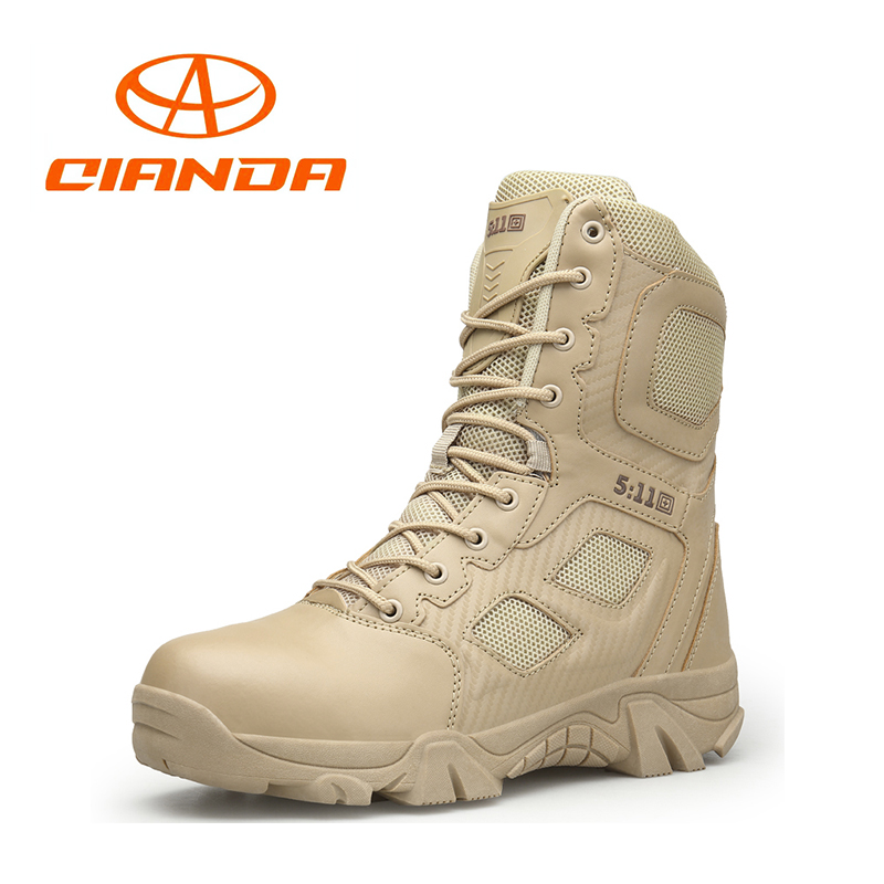 цена на Hot Hiking Shoes Professional Army Waterproof Tactical Boots Breathable Outdoor Military Mountain Climbing Winter Sneakers Men