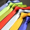 145 cm longitud 5 cm corbatas delgadas para hombre de fiesta de la oficina del todo fósforo 2016 Gentlemen Solid cuello flaco Tie Gravata Mens Cravate