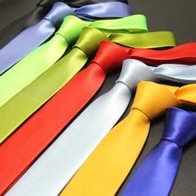 145cm Length 5cm Slim Ties For Men Office Party Casual All Match 2016 Gentlemen Solid Neck Skinny Tie Gravata Mens Cravate