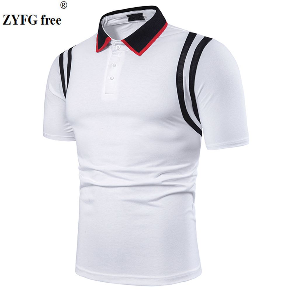 High quality men's   polo   shirt simple casual style short-sleeved   polo   shirts fashion tide men's tops summer clothes