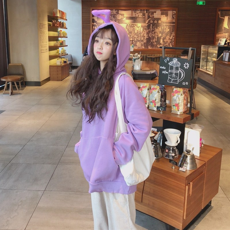 2018 Woman Clothes Korean Hoodie Teletubbies Funny Hoodie Long Sleeved Casual Cute Hoodies Sweatshirts Harajuku Velvet hoodie