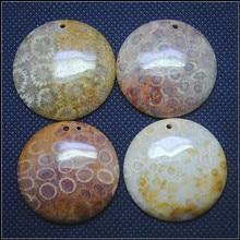 Натуральные коралловые окаменелости драгоценные камни подвески капелька и овальные формы Подвески бусины аксессуары для женщин ожерелье задатки