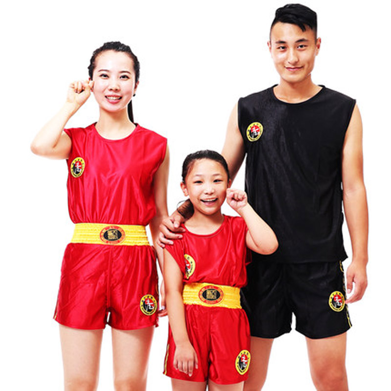 Sanda Clothing Martial Arts Tai Chi  Suit  Boxing Short Sleeve  Fitness Clothing Both Men And Women And Child
