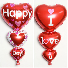 Big Heart Foil Balloons, I LOVE U Birthday Wedding Party Baloon Marry Valentine's Day Happy Birthday Decoration Ballons 483