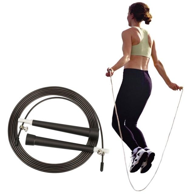 Adjustable Fast Speed Fitness Jump Skipping Rope High Grade Steel