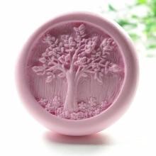 Жизнь форма дерева S424 Ремесло Искусство Силиконовые 3D Мыло плесень Ремесло формы DIY ручной работы свечи формы