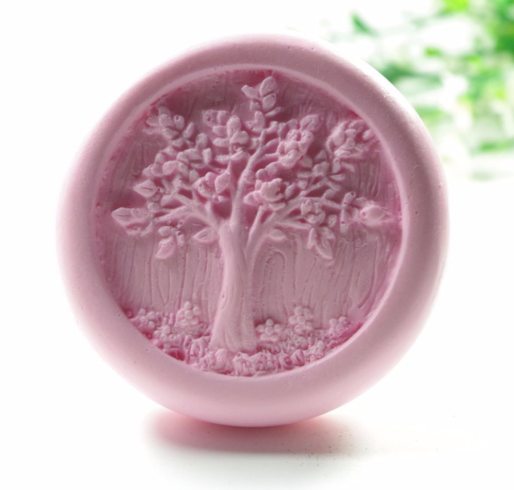 Life Tree Mould S424 Craft Art Silicone 3D Soap Mold Craft Molds DIY Handmade Candle Molds