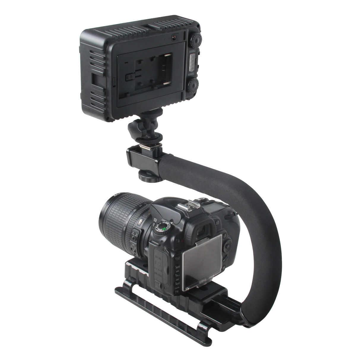 C شكل حامل قبضة فيديو مثبت يدوي ل DSLR نيكون كانون سوني كاميرا و ضوء المحمولة SLR Steadicam ل Gopro