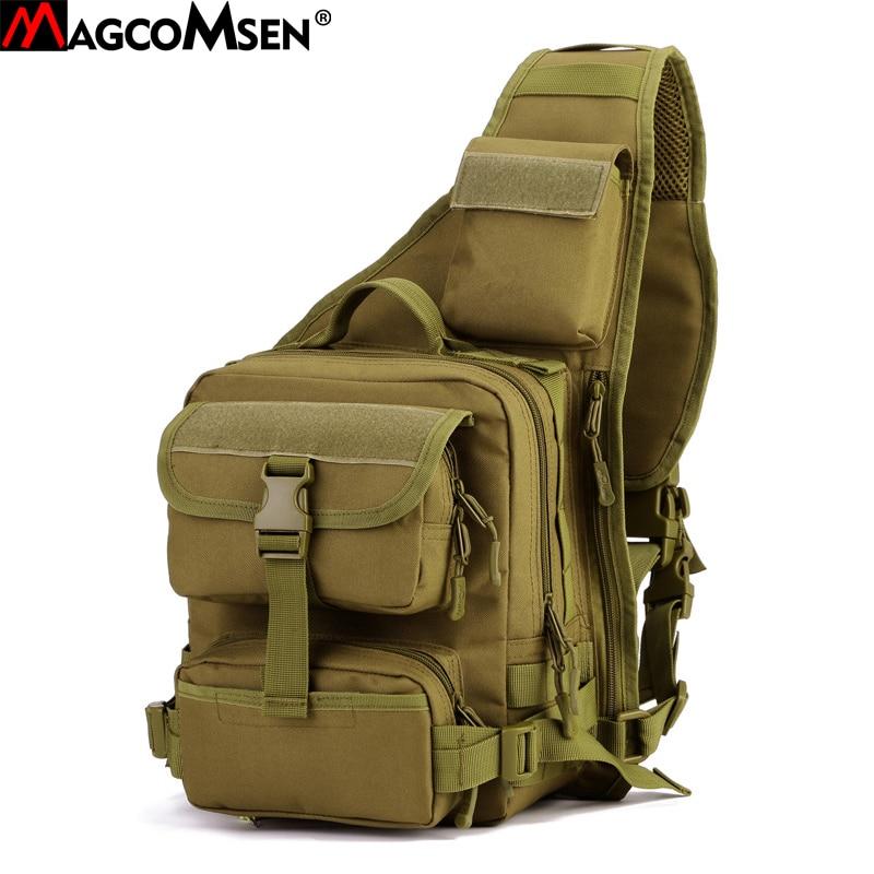 MAGCOMSEN Men's Military Backpack Waterproof Nylon Shoulder Bag Camouflage Backpacks Multi-function Men Crossbody Bags AG-SHZ-03 50l hot men s military python backpack waterproof 600d nylon camouflage backpacks multi function men travel bags a26