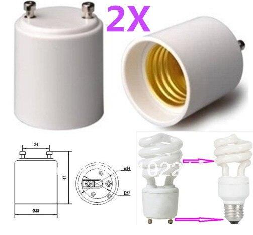 gu24 to e27e26 led light bulb lamp holder socket adapter converter free shipping with - Gu24 Led