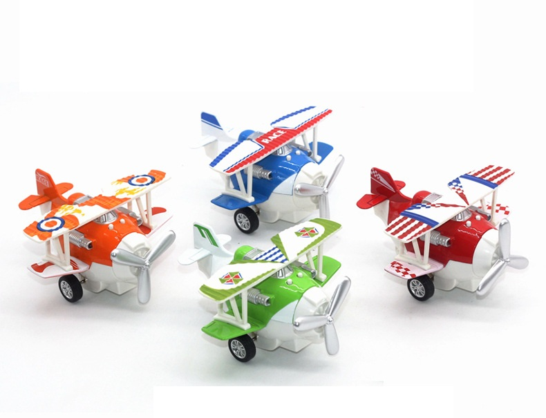 1:72 Alloy Glider Model Toy Light & Sound Carton Plane Airplanes <font><b>Diecast</b></font> Pull Back & Return Children's Toys 12*11*7cm image